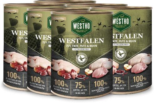 Westfalen 800g (mit 75 % Wildente, Pute und Huhn) - 6er Pack