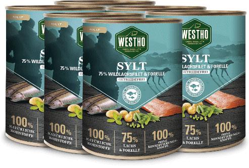 Sylt 800g (mit 75 % Wildlachs & Forelle) - 6er Pack