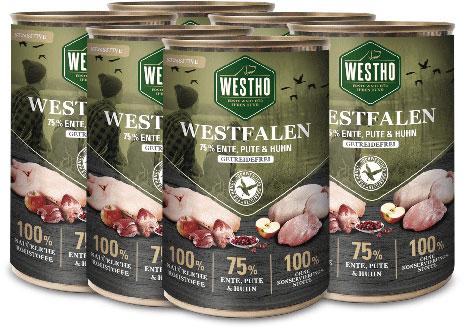 Westfalen 400g (mit 75 % Wildente, Pute & Huhn) - 6er Pack