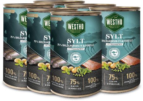 Sylt 400g (mit 75 % Wildlachs & Forelle) - 6er Pack
